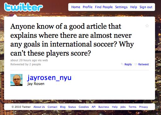 Jay Rosen World Cup tweet