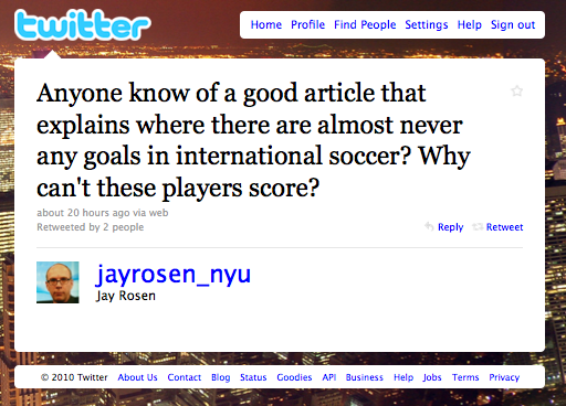 Jay Rosen World Cup tweet