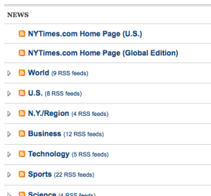 NYTimes RSS feeds
